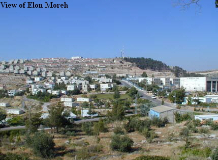View of Elon Moreh
